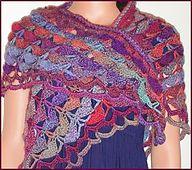 Ravelry: Sausalito Shell Stitch Crocheted Shawl pattern by Gail Tanquary