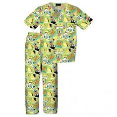 Childrens Spongebob Happy Face Scrub Set - Infinity Scrubs of AR Kid's Scrubs Kids Scrubs, Buy Scrubs, Spongebob Happy, Scrub Sets, Cherokee, Work Wear, Pajama Pants, Collection, Face