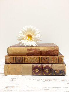 Antique Books Display ~ Emerson by beachbabyblues