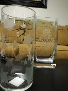 More examples of glass etching