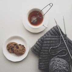 {cookies + tea + knitting}