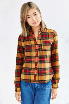 BDG Katie Flannel Button-Down Shirt - Urban Outfitters