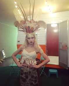 An exquisite view of this headpiece design at Charlotte Seen's Fashion Reimagined event at Ballyhoo 360. Designed by recyclable Fashion Designer Malou Cordery. #ballyhoo360 #charlottefashion #charlotteseen   Follow us on Instagram @charlotteseen