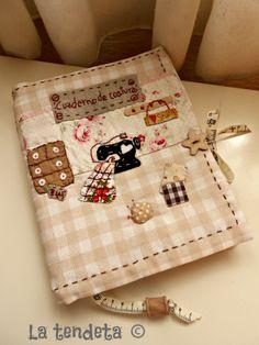 Funda cuaderno de costura