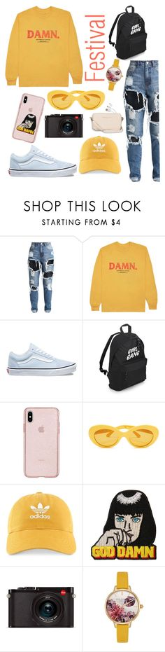 """""""."""" by alekxia on Polyvore featuring KENNY, Vans, adidas, Wallace, Leica, Ted Baker, Avenue, festivalstyle, Packandgo and SXSW"""