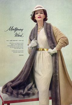 stunningly elegant 1950s winter coat.