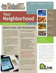 Real Estate Newsletter Design Template by StockLayouts | templates ...