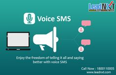 #LeadNXT provides #IVR Application & Customized #VoiceSMS Gateway to send Pre-recorded #VoiceMessages, #BulkVoiceSMS Broadcasting In #India. See more @ http://leadnxt.com/voice-sms-broadcasting-services-provider-in-india.html  #CloudTelephony