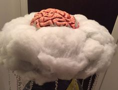 Brain Storm Costume for halloween - a fun play on words costume that looks weather-related at first glance!