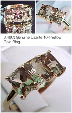 Csarite Ring in 10K Yellow Gold