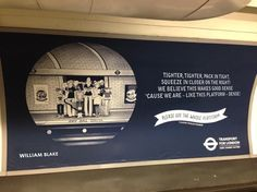 Tube Etiquette Posters, In The Words Of The Great Poets Bit of #OOH culture, nice