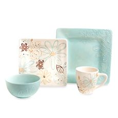 Love, Love, LOVE these! Laurie Gates Daryl 16-Piece Dinnerware Set - Bed Bath & Beyond