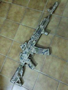 Post on spoilinforafight Airsoft Guns, Weapons Guns, Guns And Ammo, Armas Airsoft, Tactical Ak, Battle Rifle, Gun Art, Cool Guns, Assault Rifle