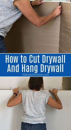 Hanging Drywall, How To Hang Drywall, Fire Pit On Wood Deck, Diy Projects Home Improvement, Diy Finish Basement, Drywall Finishing, Drywall Installation, Home Management Binder, Remodeling Mobile Homes