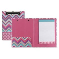 colorful designer padfolios from urbangirl. take notes in style