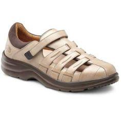 Dr Comfort Shoes Breeze Women's Therapeutic Diabetic Extra Depth Sandal Leather Velcro