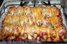My Life According to Pinterest: Delish Dinner: Taco Stuffed Shells