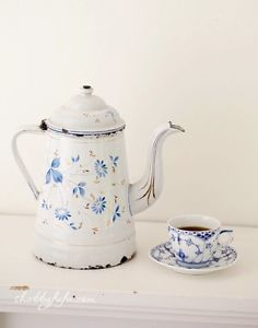 A Love Affair With Enamelware With a long time love of French enamelware pieces, I've been collecting for quite some time and enjoy using the pieces that I have on a daily basis in my home.For Floral Display...