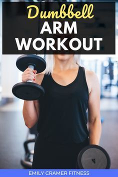 This simple circuit style arm workout is great for the gym beginner or any woman who needs their workout to be quick but effective. All you need is a pair of dumbbells. Videos included for each exercise. Dumbbell Arm Workout, Tone Arms Workout, Weight Training, Weight Lifting, Weight Loss, Fitness Motivation, Fitness Goals, Workout Routines For Beginners, Exercise Routines