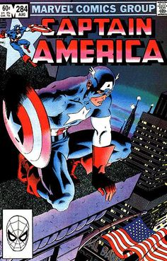 Captain America # 284 by Mike Zeck  John Beatty