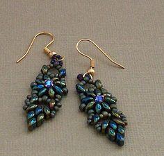 Bead Mavens: Tah Dah Duo Drop Earrings by Twyla~