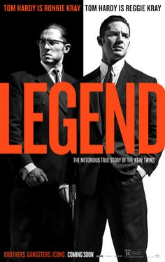 Legend is a crime thriller film written and directed by Brian Helgeland. The film is based on the book The Profession of Violence: The Rise and Fall of the Kray Twins by John Pearson,