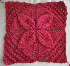 5 Swollen Baby Blanket Pattern - Leafy B - Diy Crafts - maallure Leaf Knitting Pattern, Knitting Squares, Knitting Stiches, Baby Knitting Patterns, Crochet Patterns, Diy Crafts Knitting, Knitting Projects, Crochet Projects, Knitting Blocking