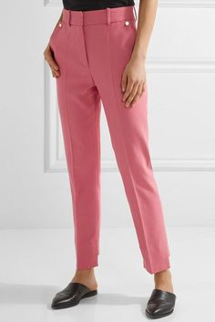 Pink cotton-blend Concealed hook and zip fastening at front 50% cotton, 48% viscose, 2% elastane; lining1: 96% cupro, 4% elastane; lining2: 100% cupro Dry clean Imported