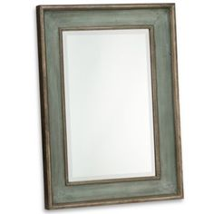 Could look awesome with the right wall color.  Uttermost Ogden Blue Wall Mirror - BedBathandBeyond.com