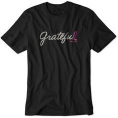 Grateful Pink Ribbon Crusher Tee | Give back: 100% of Life is good's net profits from this tee will be donated to the Avon Walk for Breast Cancer