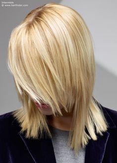 shoulder length hair and bangs on pinterest