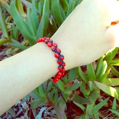 Good Luck Huayruro Seeds Red/Black Bracelet ❌PLEASE DON'T BUY THIS LISTING❌ I will create a new listing! (DISCOUNT on BUNDLE) Handcrafted bracelet with Huayruro seeds from Peruvian Amazon & has adjustable clasp, fits all wrist sizes!                                               ⓢⓘⓩⓔ: Fits up to 10 inches. ⚠️Do to the Huayruro seed's delicate properties please avoid exposure to water ⚠️ Jewelry Bracelets