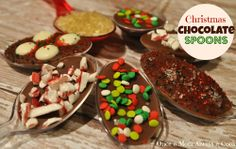 Christmas Chocolate Spoons #udderlysmooth #holiday #baking
