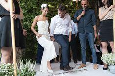 A Jumpsuit-Wearing Bride for a Chic, Alternative Jewish Wedding at Avigdor Tel Aviv, Israel - Smashing the Glass Wedding Blog, Wedding Day, Chuppah, Bridesmaid Dresses, Wedding Dresses, Fashion Forward, Jewish Weddings, Groom, Jumpsuit