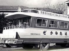 昭和26年12月購入。日産自動車横浜工場製作。80馬力、12人乗り、NT1951年型、幅員2M25、 グリーンと白銀のツートンカラー、日本ビクター放送設備付き、価格280万円。