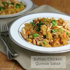 Buffalo Chicken Quinoa Salad   alidaskitchen.com
