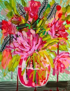 For Portia Hennessy on Her Birthday Original by AmandaEvanstonArt