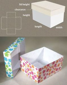 Completely custom sized template for a Box with lid. Completely custom sized template for a Box with lid. Diy Gift Box, Diy Box, Diy Gifts, Gift Boxes, Make Box, Diy Paper, Paper Crafts, Foam Crafts, Paper Toys