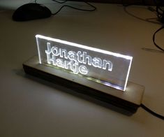 Picture of Design and build a side-lit LED sign at TechShop