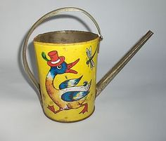 VINTAGE OLD GERMAN CHILDS WATERING CAN
