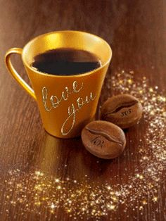 Good Morning Love My Sweet Heart💝💝 Coffee Gif, Coffee Images, Coffee Humor, Coffee Quotes, Coffee Break, Fresh Coffee, I Love Coffee, My Coffee, Coffee Cups