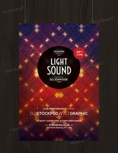 Light Sound - Free PSD Flyer Template :http://stockpsd.net/light-sound-free-psd-flyer-template/
