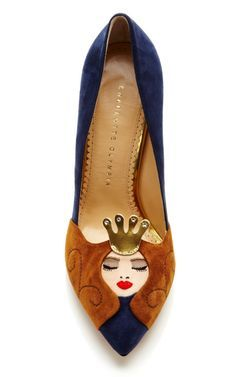 Sleeping Beauty Suede Pump by Charlotte Olympia