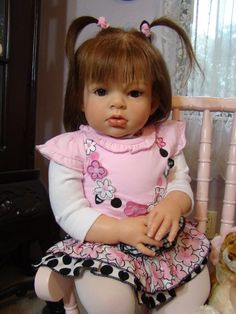 Arianna de Reva Shick This toddler was created by my Mom, Miriam of MIriam's Baby Dolls