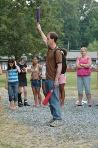 Best summer camp game ever: Golf Ball at Appel Farm Arts Camp.  Would be fun to take some families and kiddos camping and play