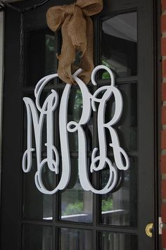 $35 - Interlocking Vine Wooden Monogram Perfect for nursery or front door. Spray paint to desired color.