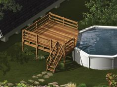 Best Above Ground Pools | Above Ground Pool Deck Designs: The Ideas for your Best Style: Above ...