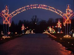 drive-thru Christmas light show.     Symphony Of Lights at Merriweather Post Pavilion