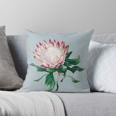 Protea Flower, Flowers, King Protea, My Arts, Throw Pillows, Art Prints, Printed, Awesome, Artist