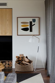 A simple an chic corner of a well designed room.